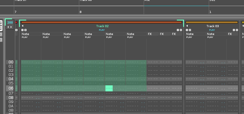 Renoise 3.2.2 - keyboard shift selection - selecting column with 3 effect columns strange behaviour