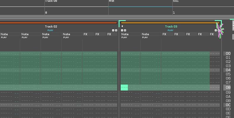 Renoise 3.2.2 - after keyboard shift selection - adding more than 3 effect columns strange behaviour