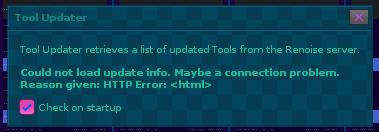 tool updater error